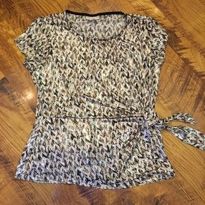 Christopher and Banks shimmer top